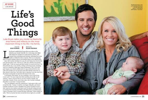 Luke Bryan With His Wife Caroline Boyer And Their Kids