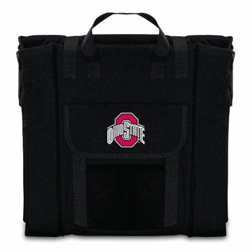 """NCAA Ohio State Buckeyes Portable Stadium Seat, Black by Picnic Time. NCAA Ohio State Buckeyes Portable Stadium Seat, Black. 17"""" x 15"""" x 4.5""""."""