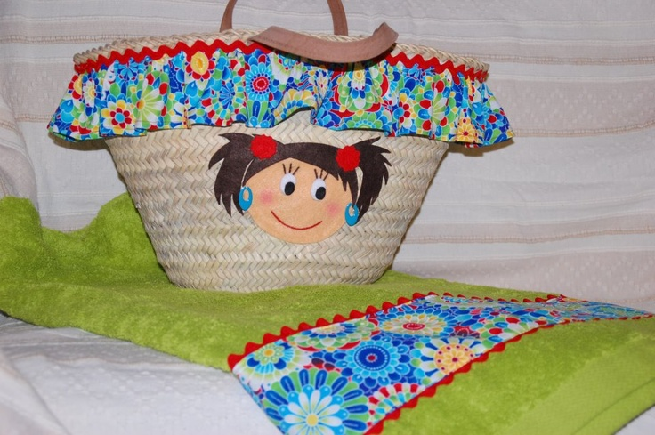 169 best toallas y canastas images on pinterest straws moses basket and baskets - Toallas de tela para playa ...