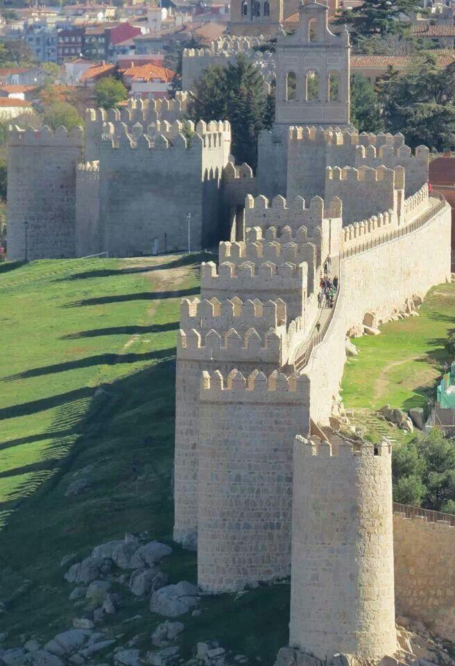 #Avila (Spain)...amazing wall walk (good Parador too)