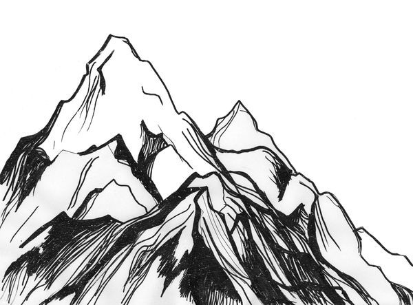 how to draw mountains in the distance