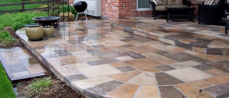 landscape stone and pavers | Installation of Stone Pavers over Concrete Slab | EarthStone Products ...