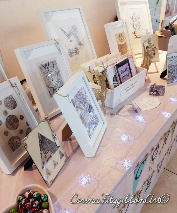 Christmas Fair Display.Find me on Instagram and Facebook to see more of my work! @CorinaFitzgibbonArt  CorinaFitzgibbonArt© All Rights Reserved.