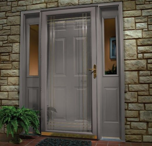 Meer dan 1000 idee n over painted storm door op pinterest for Front entry doors with storm door