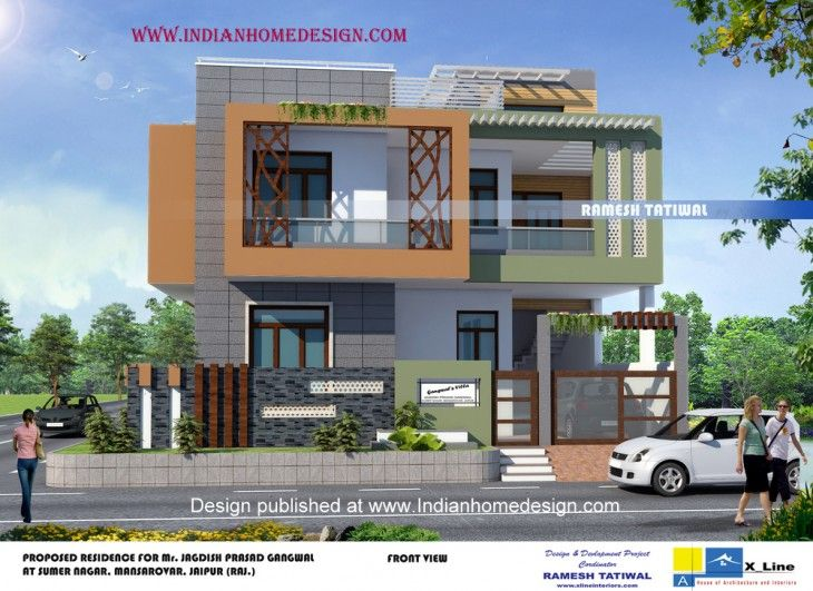 Marvelous Front Design Of House In Jaipur Part - 7: Single Story Small 2BHK Beautiful House Plan | Beautiful House Plans And  House
