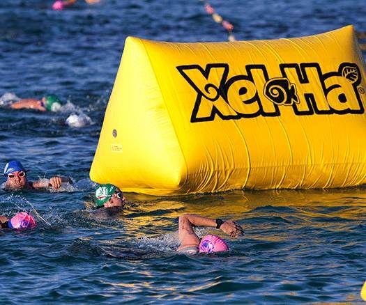 Con ambiente muy familiar Xel-Ha cerró su quinto #TriatlónXelHa. Vía ESTO