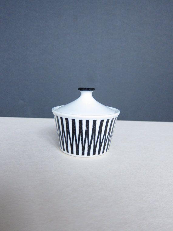 UpsalaEkeby Gefle Cleo Black Sugar Bowl Arthur by ModernSquirrel, $60.00