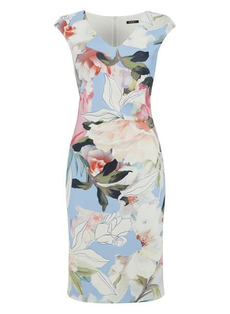 *Roman Originals Multi Coloured Floral Scuba Dress