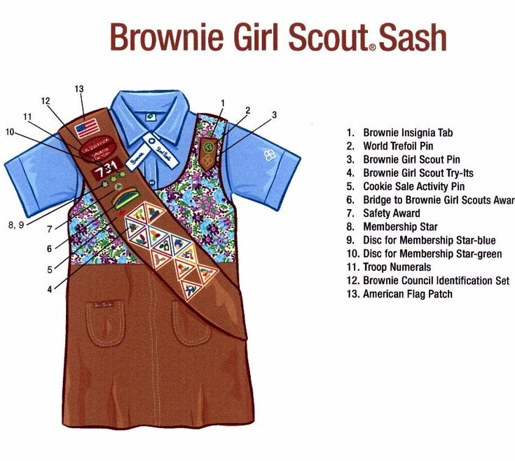 A Brownie is a member of a Guiding organization for girls aged seven years old to ten years old. Exact age limits are slightly different in each organization.