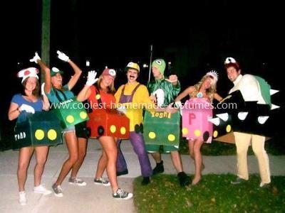 Homemade Mario Kart Group Costume,