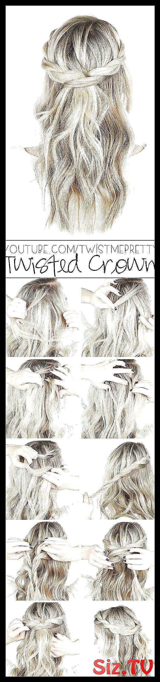 Coole und einfache DIY-Frisuren - Twisted Crown Braid - Schnelle und einfache Ideen für ... Coole und einfache ...