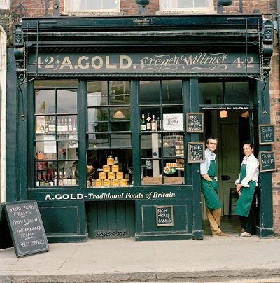I love the idea of posting daily specials on vintage chalkboards (or vintage clipboards) outside the shop. A.Gold | London