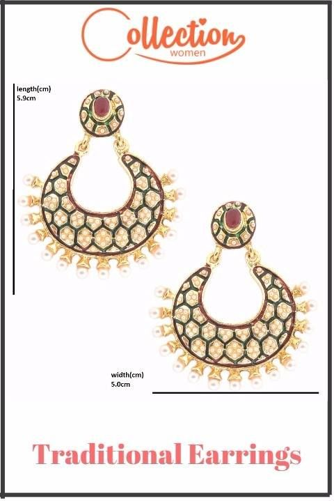 Gold Plated Traditional Copper Earrings Set [http://bit.ly/2rmlJpk?utm_content=buffer7b7f1&utm_medium=social&utm_source=pinterest.com&utm_campaign=buffer] Exclusively Available Only on Collectionwomen.com - [http://bit.ly/2rmlJpk?utm_content=buffer7b7f1&utm_medium=social&utm_source=pinterest.com&utm_campaign=buffer] #traditionalearrings #fashionearrings #jewelry #weddingearrings