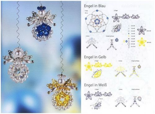 angels of the beads and the beads, weaving scheme