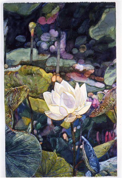 wasbella102:    Bali ponds (detail): Joseph Raffael