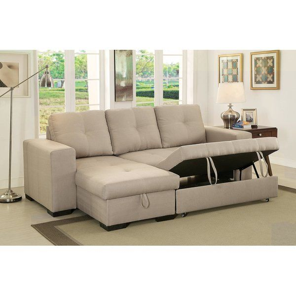 Braylen Sleeper Sectional Fabric Sectional Sofas Furniture Of America Grey Sectional Sofa