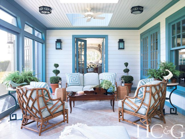 Good Screened In Sitting Room By Anthony Baratta In The Hamptons Design