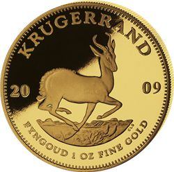 gold Krugerrand a South African gold coin