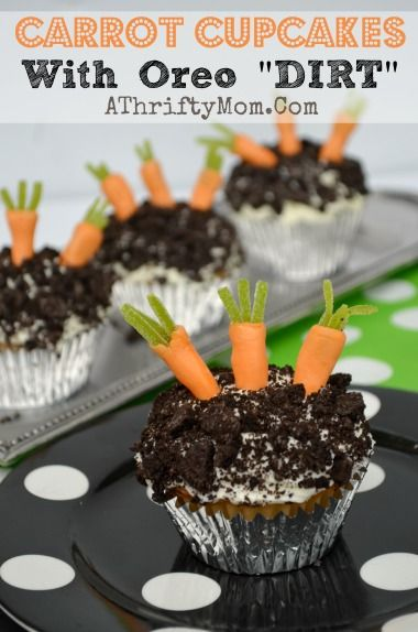 Carrot Cupcakes with oreo DIRT topping, Oh my goodness how ...