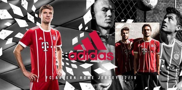 Camisas do Bayern de Munique 2017-2018 Adidas