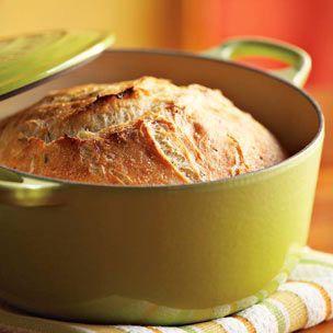 vegan rosemary-lemon no-knead bread