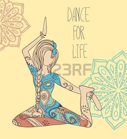 yoga class: Mano tarjeta de felicitación dibujado ornamento ilustración concepto. Diseño del modelo del cordón. Vector decorativo bandera de la tarjeta de invitación o diseño de la vendimia tradicional, Islam, árabe, indio, motivos otomanos, elementos. Vectores