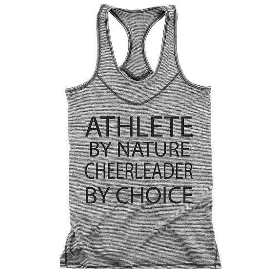 $19.95. Hit Cheer Racerback Cheerleader Tank Top Athlete By Nature Cheerleader By Choice Black Design Moisture Wicking Practice Wear. #cheerleading #ad