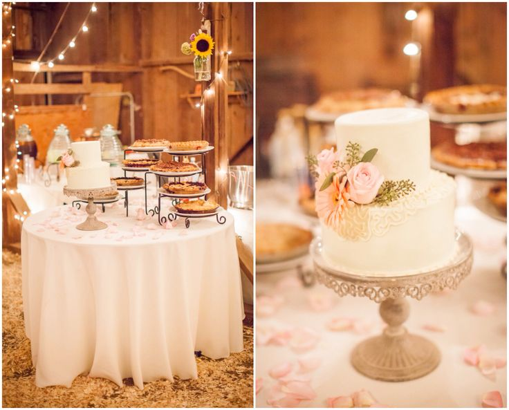 Small White Wedding Cake And Pies