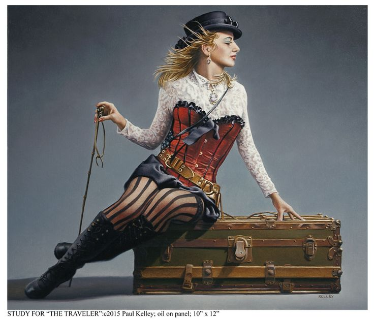 Study for the traveler by paul kelley steampunk for Original sculptures for sale