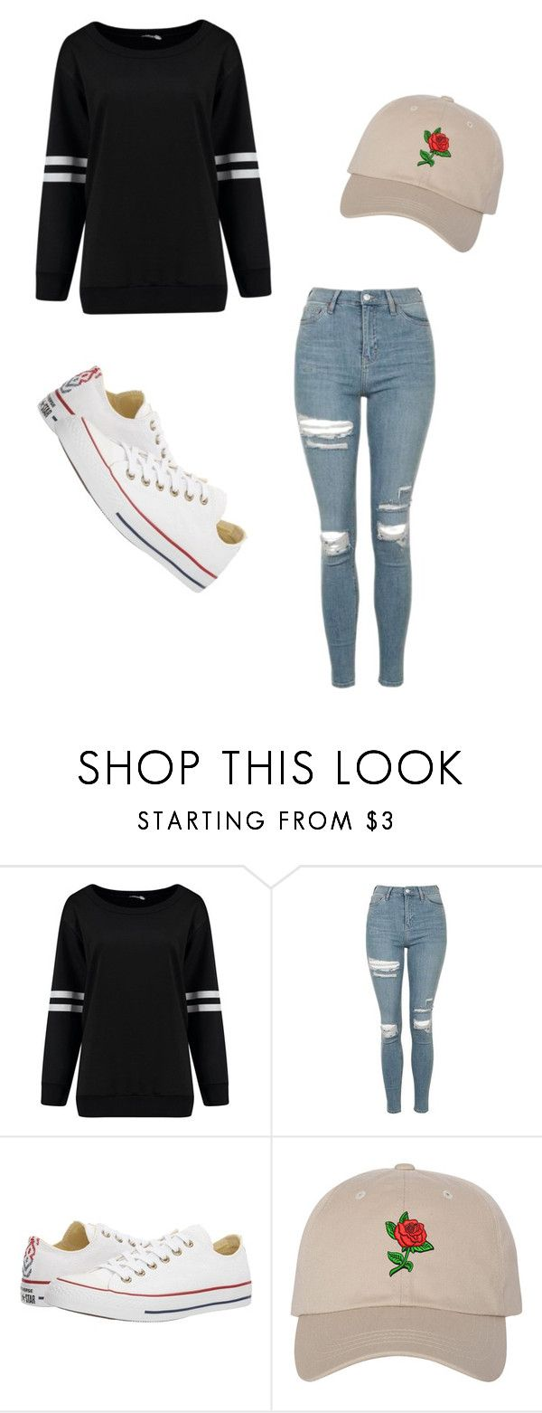 """""""Untitled #445"""" by austynh on Polyvore featuring Topshop and Converse"""