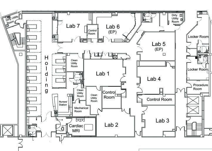 Image result for cardiac catheterization lab layout
