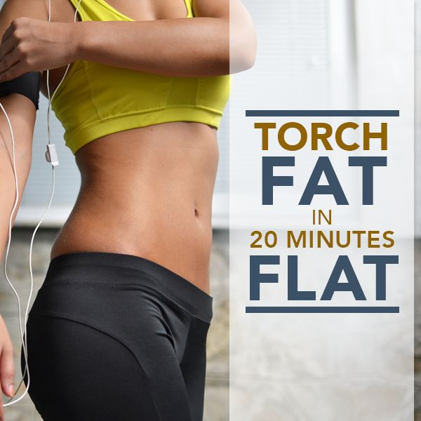 Torch Fat in 20 Minutes Flat - a workout for the more advanced crowd! #20minuteworkout #workouts #fitness