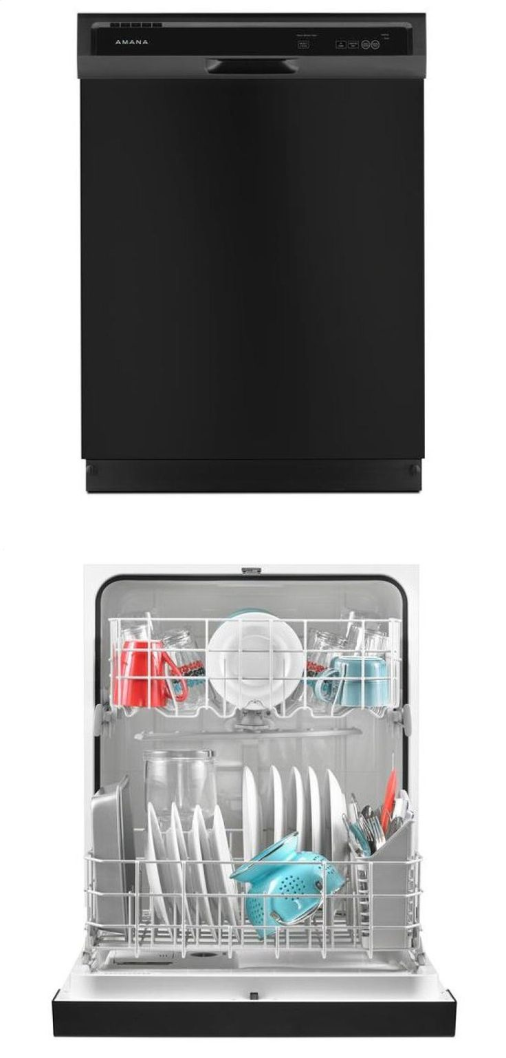Amana® Dishwasher with Triple Filter Wash System - black Model # ADB1300AFB Available in 3 colors: Black, Stainless Steel & White