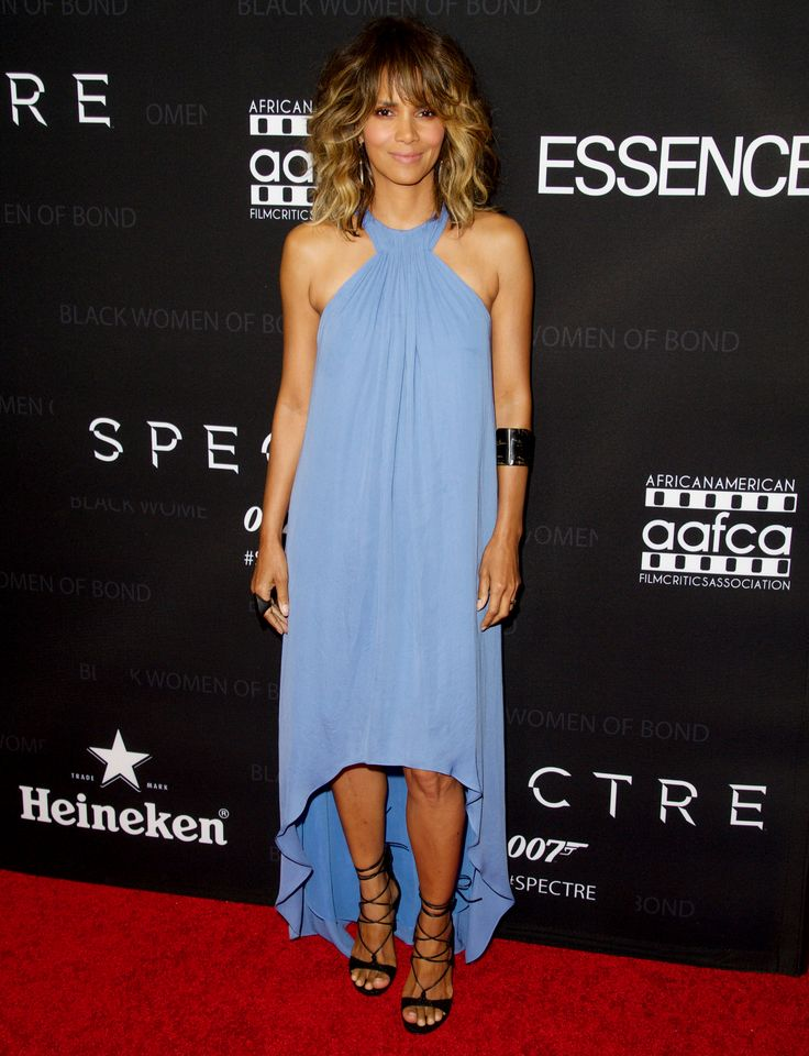 Halle Berry Exudes '70s Glamour During a Rare Public Appearance from InStyle.com