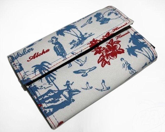 Quiksilver Mens Womans Unisex Wallet Fashion Designer Surf Trifold Roses Birds