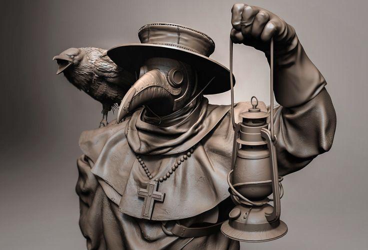 ArtStation - Plague doctor, Tanya Berezovskaya