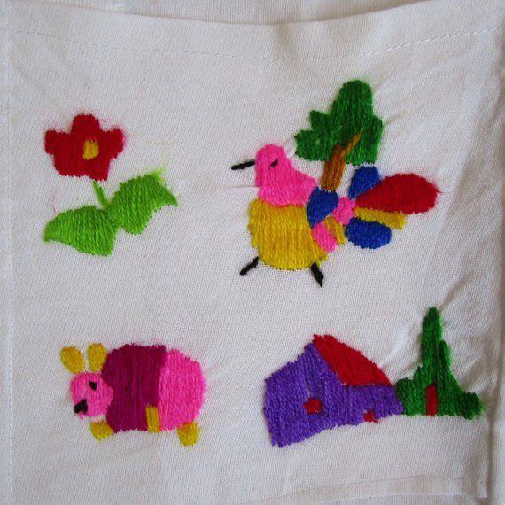boho medium bohemian dress embroidered ethnic dress small El Salvador dress, Vintage embroidered house dress hippie