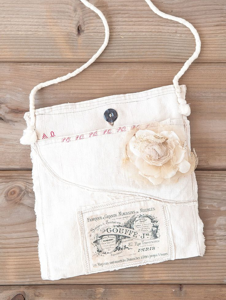 Create your own Map Bag with just a few scraps of material a charming button