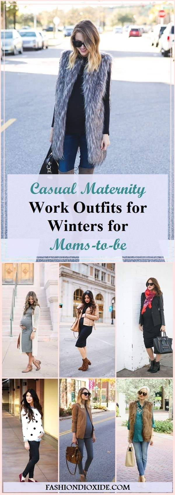 45 Casual Maternity Work Outfits for Winters for Moms-to-be – Fashiondioxide