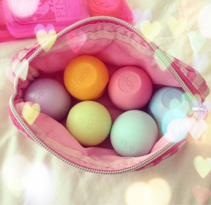 EOS Lip Balm - honestly the shape really eats up space. But I love these little things.
