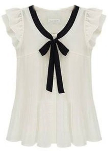 Ruffle Sleeve Bow Tie Front Chiffon Blouse