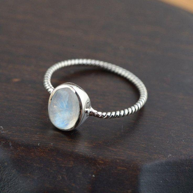 Blue Moon (Natural Stone) Ring