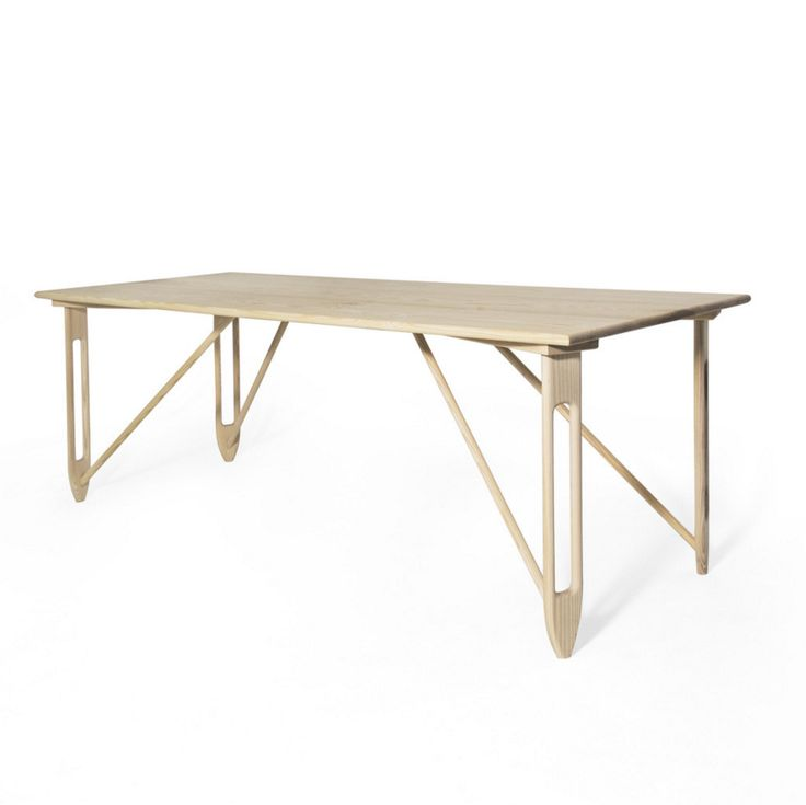 """ETOILE DINING TABLE Designed by Materia Designs  72 - 108"""" L x 32 - 40"""" W x 30"""" H White Oak Custom Sizes & Finishes Available"""