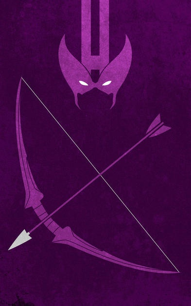 Hawkeye minimalist poster by thelincdesign.