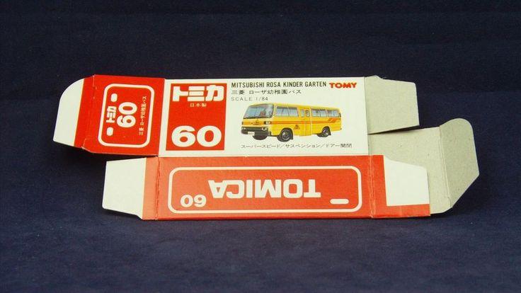 TOMICA 060B MITSUBISHI ROSA BUS   1/84   ORIGINAL BOX ONLY   1989-1993 JAPAN