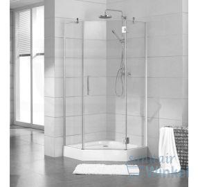 Saniclass Neptune 3231 douchecabine 90x90x195cm chroom profiel en helder glas - SW1250 - Sanitairwinkel.nl 399, 560 incl douchebak