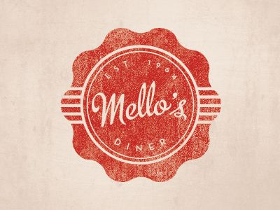 Mello's Diner logo by Teresa Wozniak