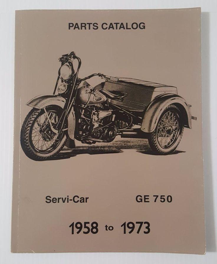 HARLEY DAVIDSON REPRINT SPARE PARTS CATALOG for Harley 1958 - 1973 Servi-Car