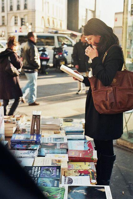 Book shopping.