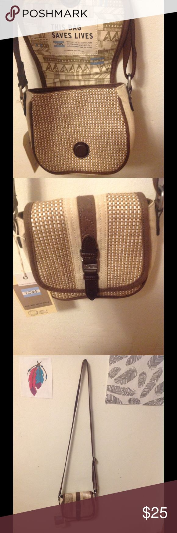 "TOMS bag Tan, Beige, Brown | ""This bag saves lives"" 